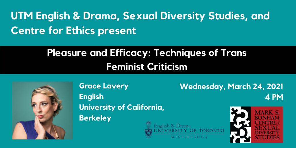 Grace Lavery, Pleasure and Efficacy: Techniques of Trans Feminist Criticism (Ethics, Aesthetics, Feminisms)