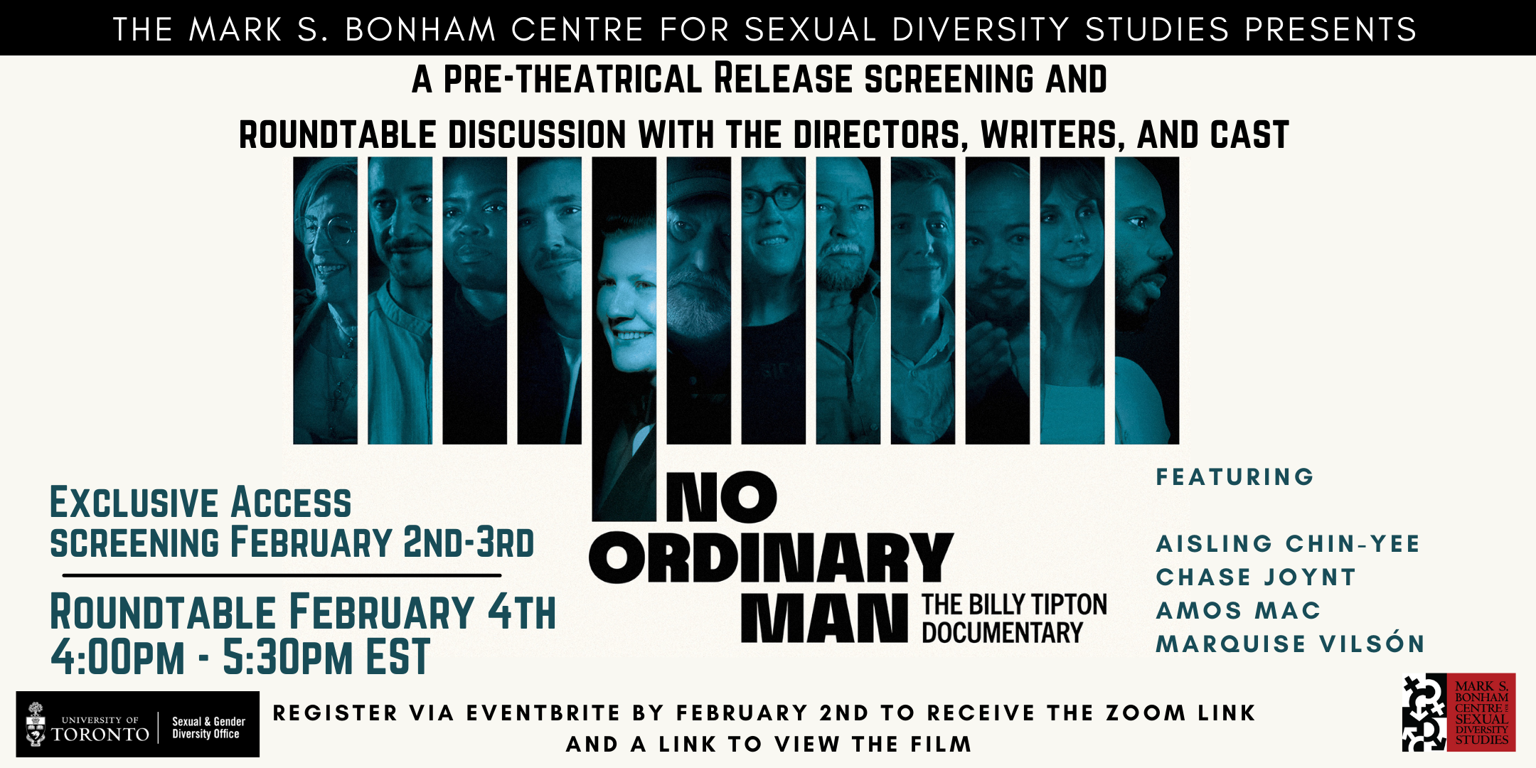 No Ordinary Man: The Billy Tipton Documentary Screening and Roundtable Discussion with Directors, Writers, and Cast