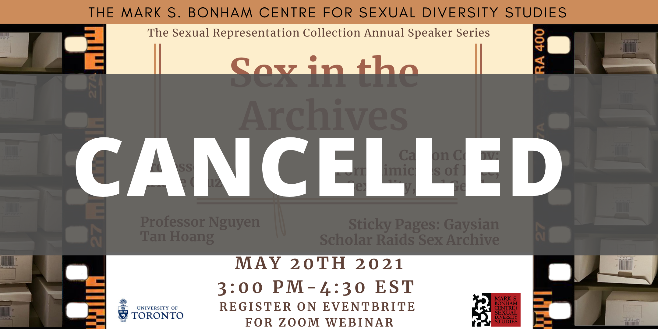CANCELLED: The Sexual Representation Collection Presents: Sex in the Archives with Ariane Cruz and Nguyen Tan Hoang