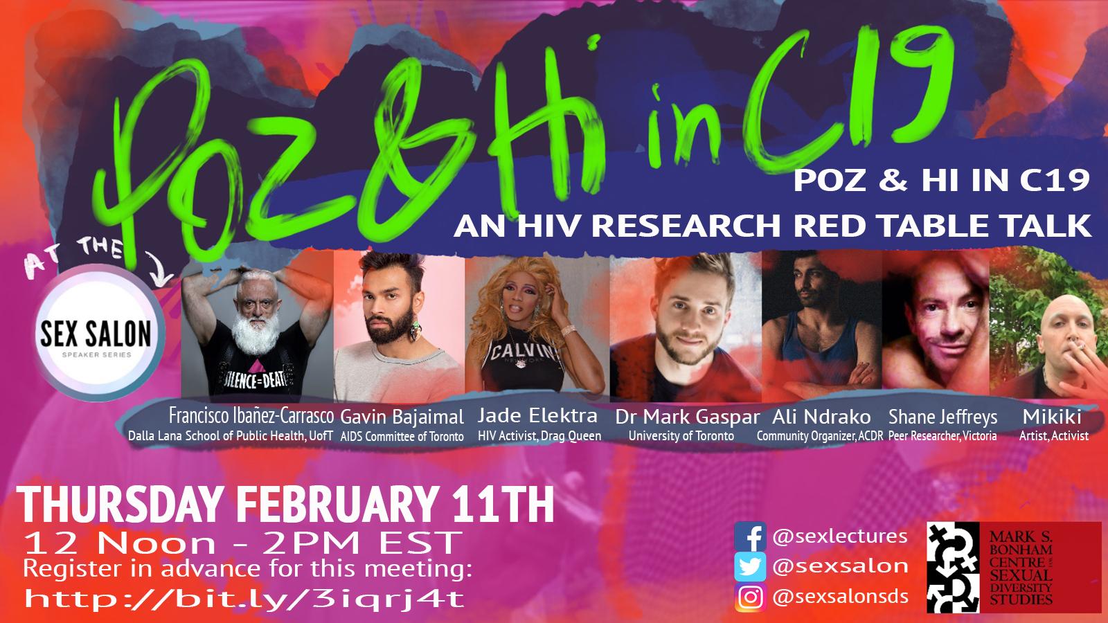 Sex Salon: Poz & Hi in COVID-19 - An HIV Research Red Table Talk